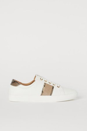 Sneakers - Cream/glittery - | H&M US