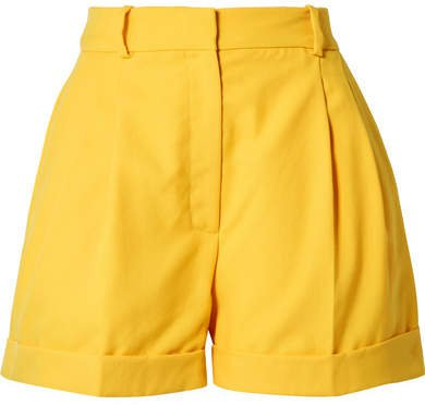 Racil - Max Wool-piqué Shorts - Saffron