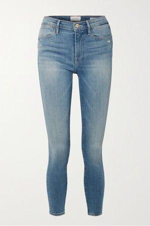 Blue Le High mid-rise skinny jeans | FRAME | NET-A-PORTER