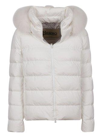 White Technical Fabric Padded Jacket