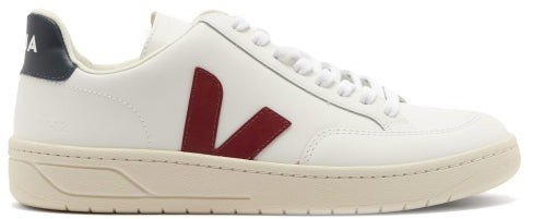 V-12 Leather Trainers - White Multi