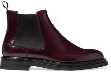 Patsy Glossed-leather Chelsea Boots - Merlot
