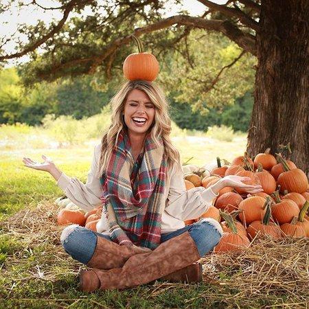 Pumpkin Patch Fun Photo