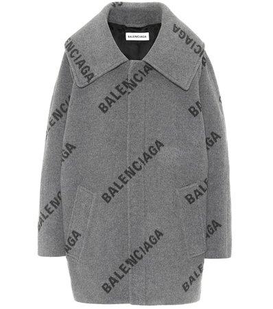 Balenciaga - Logo cashmere coat   Mytheresa