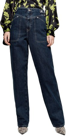 V-Panel Straight Leg Jeans