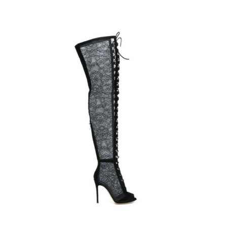 thigh high lace boot