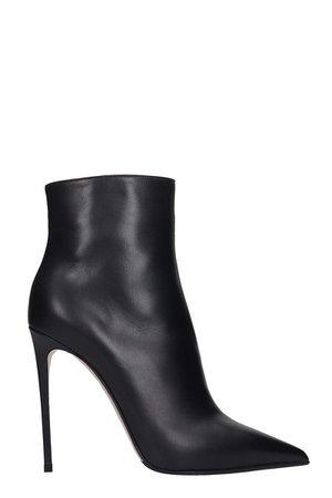 Le Silla Ankle Boots In Black Leather