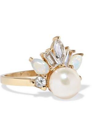 Loren Stewart   Crowned Jewel II 14-karat gold multi-stone ring   NET-A-PORTER.COM