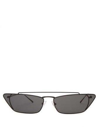 Lunettes de soleil œil-de-chat en métal | Prada Eyewear | MATCHESFASHION.COM FR