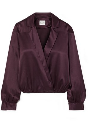 Cami NYC   The Kendall wrap-effect silk-charmeuse blouse   NET-A-PORTER.COM