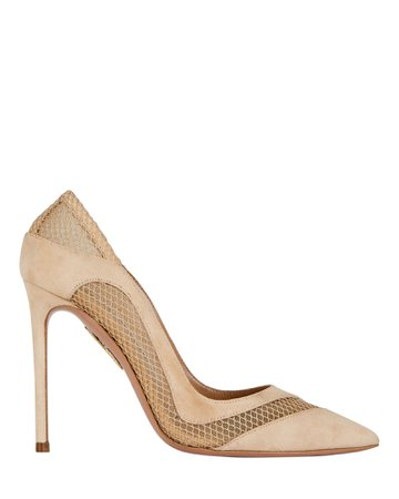 Aquazzura Dalia 105 Suede Pumps | INTERMIX®