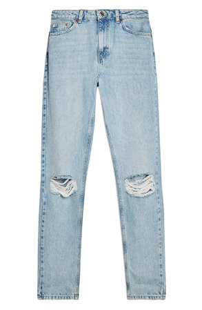 Topshop Double Ripped Mom Jeans | Nordstrom