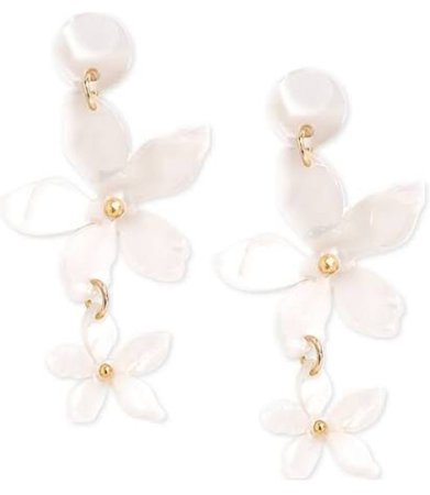 white floral earring Macy's