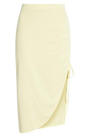 Open Edit Side Ruched Skirt | Nordstrom