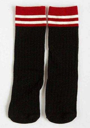 red black socks
