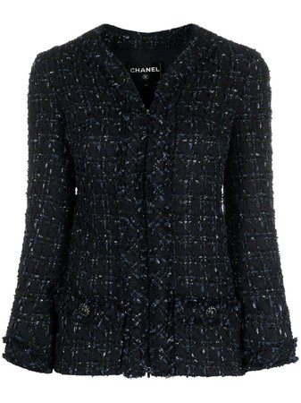 Chanel Pre-Owned 2010s Bouclé single-breasted Jacket - Farfetch