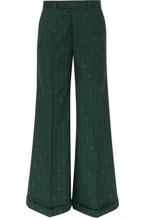 Gucci   Wool-jacquard wide-leg pants   NET-A-PORTER.COM