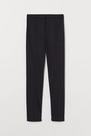 Slim Fit Pants - Black