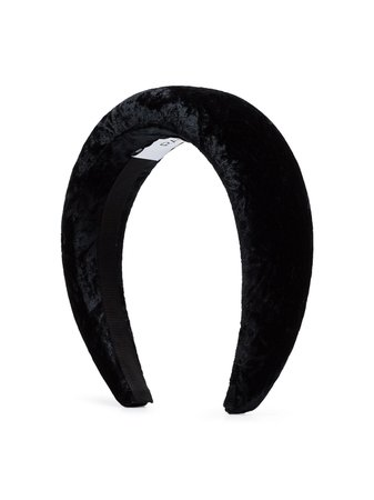 Black Racil Velvet Padded Hairband | Farfetch.com