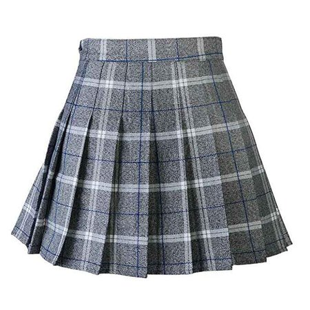 Women Pleat Skirt Harajuku Preppy Style Plaid Skirts Mini Cute School Uniforms Ladies Jupe Kawaii Skirt Saia F at Amazon Women's Clothing store: