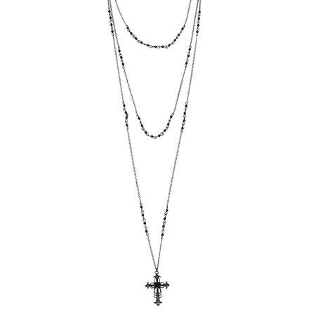 black cross necklace - Google Search