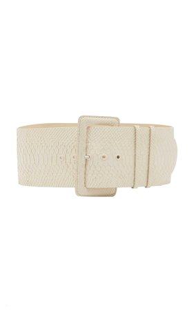 ZIMMERMANN Croc-Effect Wide Leather Belt