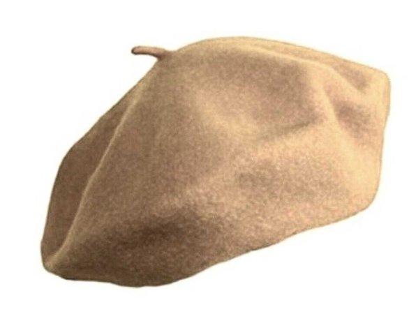 yellow beige beret