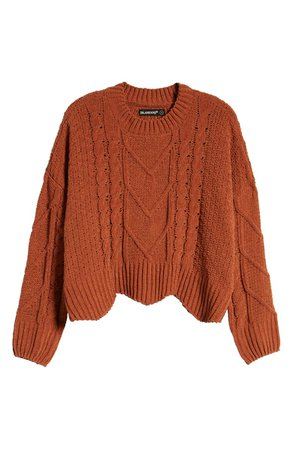 BLANKNYC Cable Knit Crewneck Sweater | Nordstrom