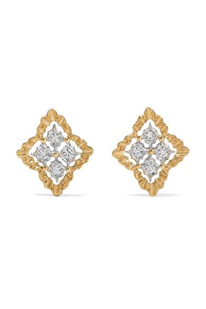 Buccellati | Rombi gold diamond earrings