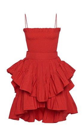 Tiered Taffeta Mini Dress by Philosophy di Lorenzo Serafini   Moda Operandi