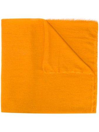 Faliero Sarti Lightweight Frayed Scarf TOBIAU0154 Orange | Farfetch