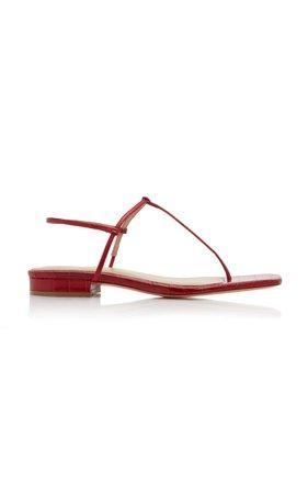 Studio Amelia 1.4 Croc-Effect Leather Sandals