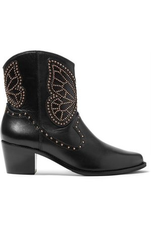 Sophia Webster   Shelby studded leather ankle boots   NET-A-PORTER.COM