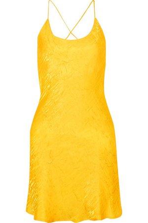 The Line By K   Flynn crinkled-satin mini dress   NET-A-PORTER.COM