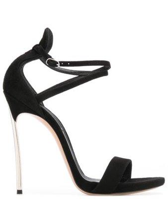 Casadei Strappy Open Toe Sandals 1L504P120MACAMO Black | Farfetch