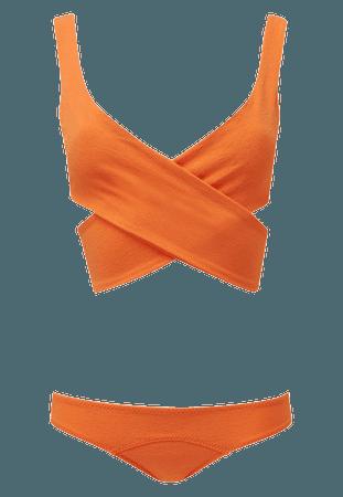 marie-louise orange crepe bikini