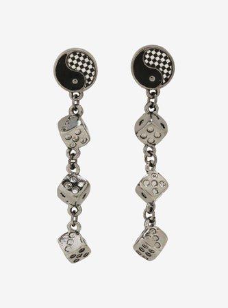 Yin-Yang Dice Drop Earrings