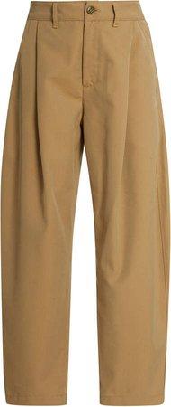 Low Curve Cotton-Blend Trousers