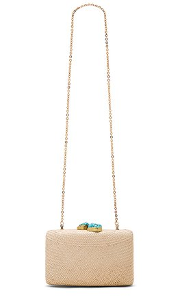 KAYU Jen Clutch in Toast & Turquoise | REVOLVE