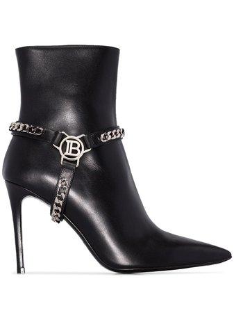 Balmain Ora 95mm Chain Ankle Boots - Farfetch