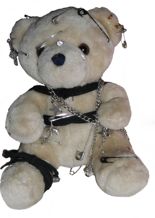 Grunge teddy bear