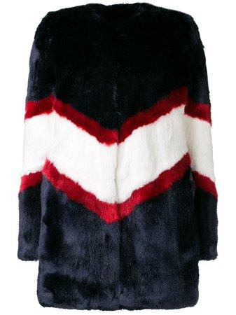 Shop blue La Seine & Moi Ora faux fur coat with Express Delivery - Farfetch