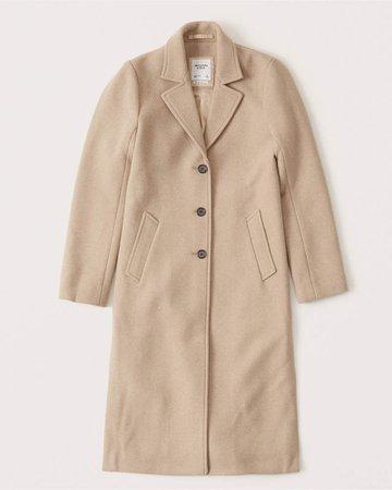 Women's Calf-Length Dad Coat   Women's Coats & Jackets   Abercrombie.com
