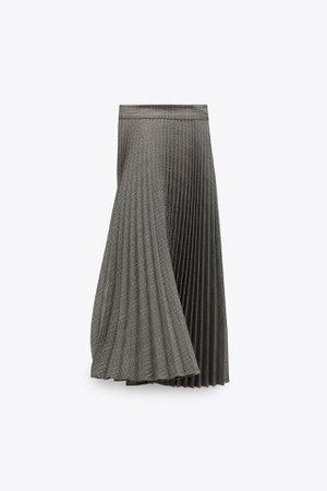 PLEATED PLAID SKIRT | ZARA United States