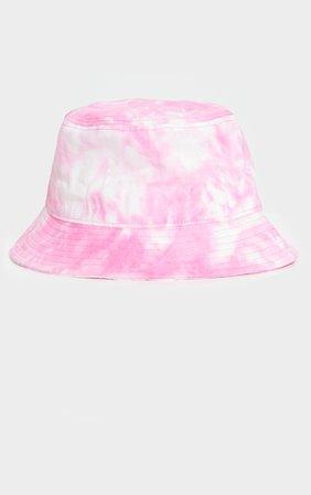 Pink Tie Dye Bucket Hat   Accessories   PrettyLittleThing