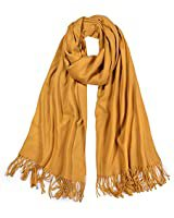 Ruth&Boaz Soft Cashmere Feel Light Weight Winter Shawl Wrap Scarf (Mustard) at Amazon Women's Clothing store