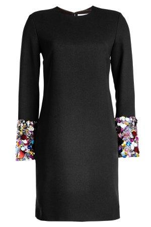 Crepe Dress with Sequin-Embellished Cuffs Gr. UK 10