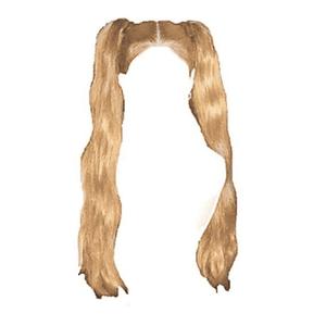 Blonde Hair PNG Pigtails