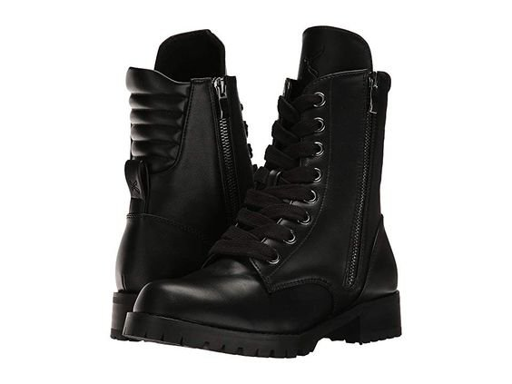 Capezio Flat Combat Boot Women's Shoes Black