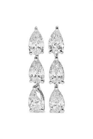 Anita Ko | 18-karat white gold diamond earrings | NET-A-PORTER.COM